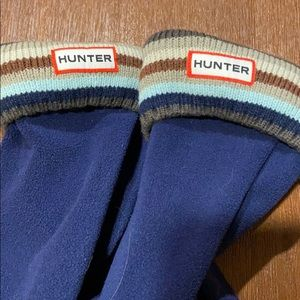 Hunter boot socks navy/multi, kids M